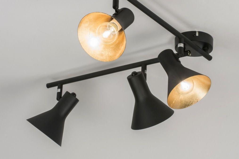 Plafonnier Moderne Noir Mat Acier LIGHT