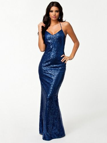 ae432af2242a Madaam All Over Sexy Sequin Low Bluish Evening Dress