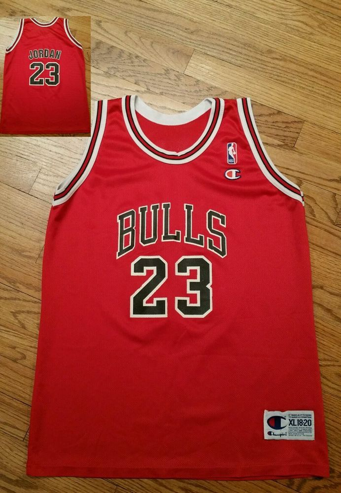 ba2485f6c28 Vintage Chicago Bulls Michael Jordan  23 Champion Basketball NBA  Jersey-Youth XL  Champion  ChicagoBulls