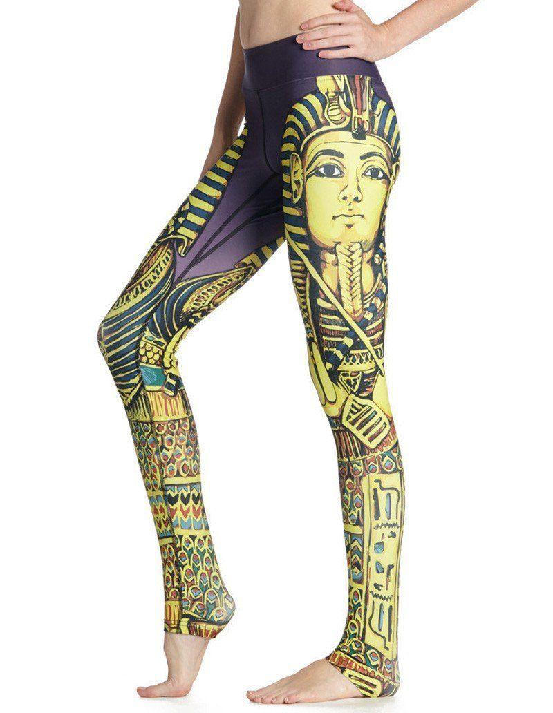 3d3752e08b283b Fun Cleopatra Print Breathable Quick-Dry Womens Yoga Leggings ...