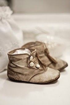 Worn vintage baby shoes - I can't determine who originally posted this lovely image