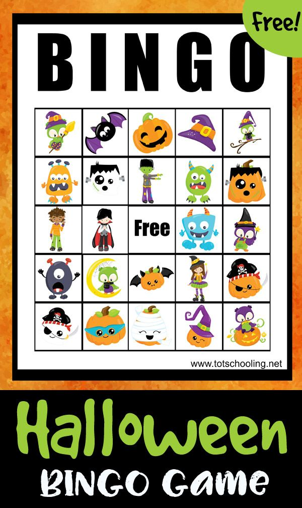 Halloween BINGO Game PreK Halloween theme Halloween