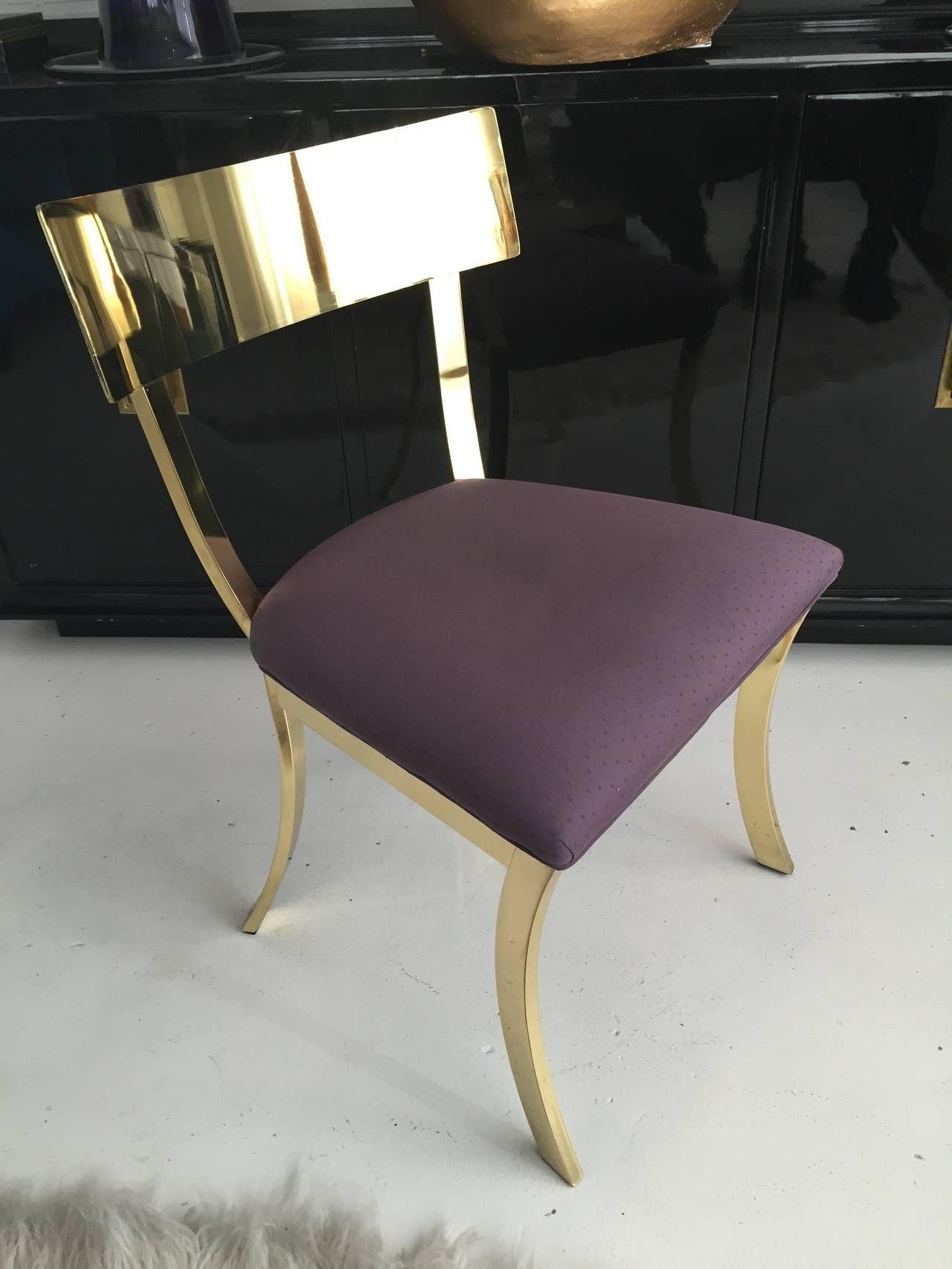 Superb Stunning Polished Brass Klismos Chair By Dia Interiors Unemploymentrelief Wooden Chair Designs For Living Room Unemploymentrelieforg