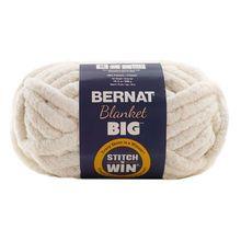 Bernat Blanket Big Stitch N Win Yarn Vintage White Arm