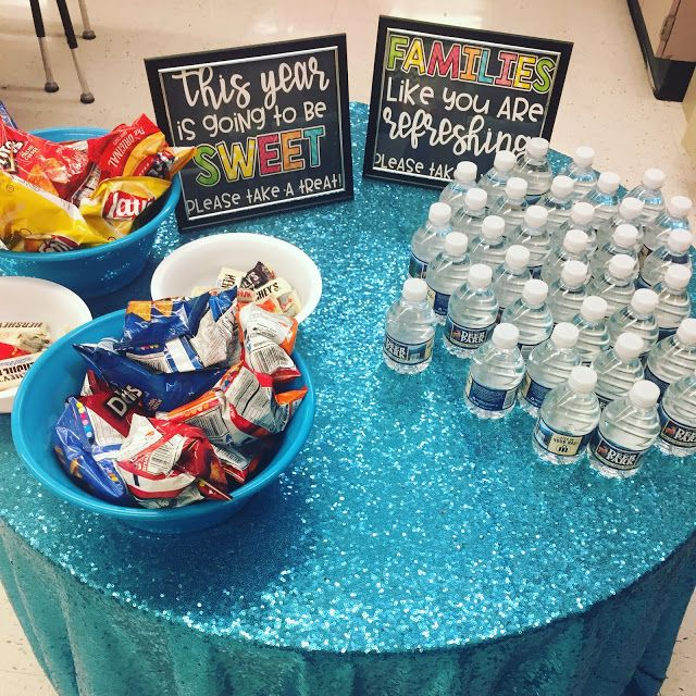 Open House Treats for Parents #meettheteacherideas