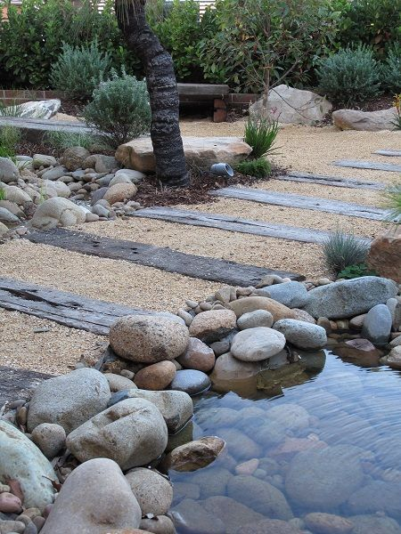 image result for landscaping slope rock garden australia