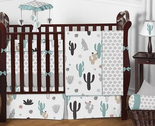 South Western Cactus Baby Bedding 9pc Boys Girls Crib Set By