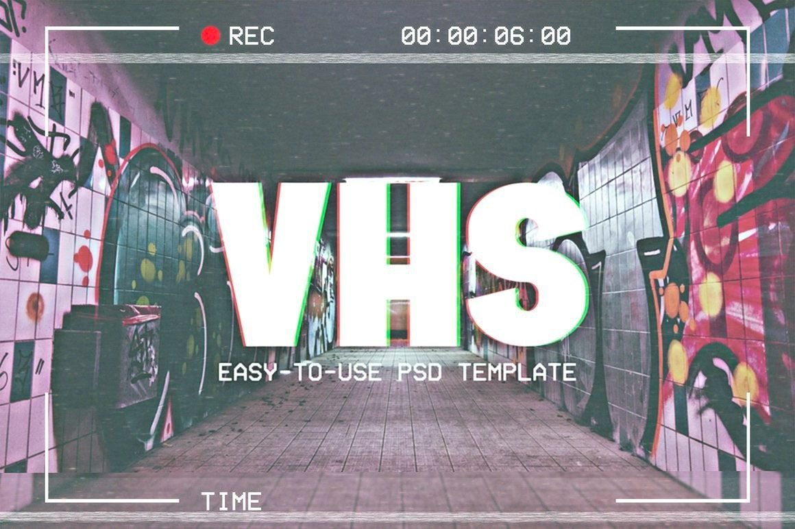 Vhs Effect Photoshop Template For Access All Areas Members In 2020 Photoshop Tutorial Design Photoshop Tutorial Photo Effects