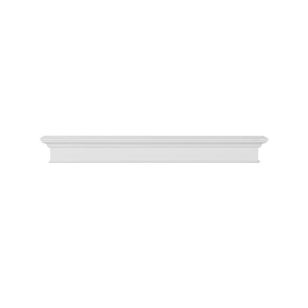 Pearl Mantels Henry 5 Ft White Paint Mdf Distressed Cap Shelf Mantel Floating Mantel Mantel Shelf White Paints