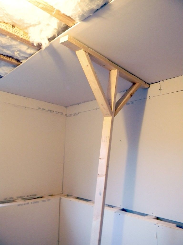 ideas for a ceiling without sheetrock - Dog building ideas on Pinterest
