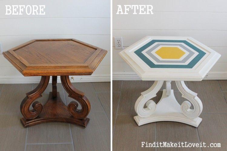 DIY Chalk Paint-Hex table!