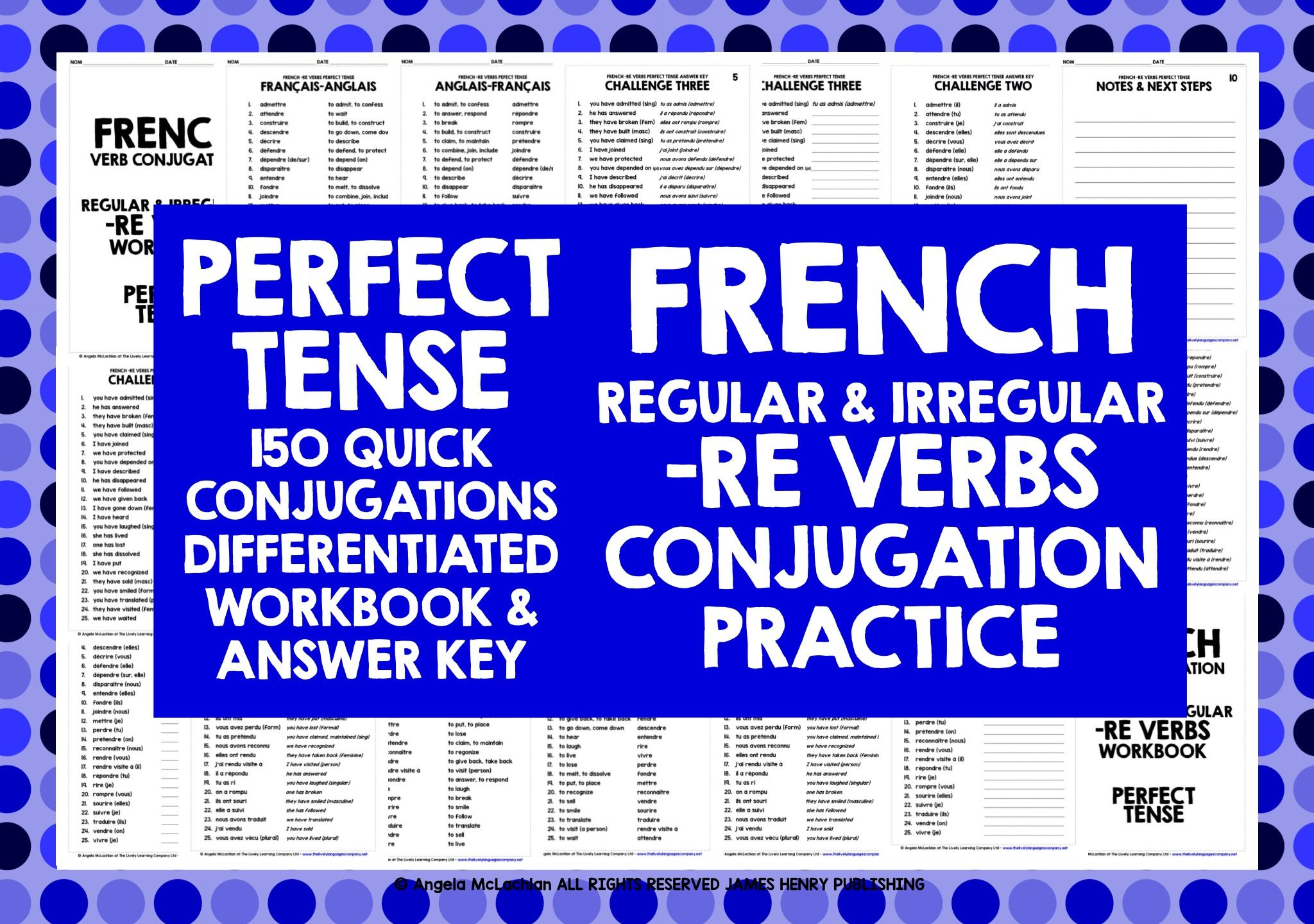 French Re Verbs Perfect Tense