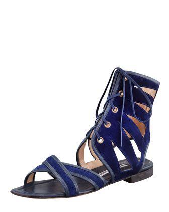 18187f07a84 Vestalamod Flat Suede Gladiator Sandal