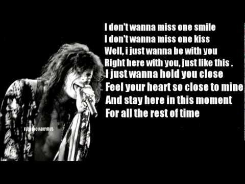 I Don T Wanna Miss A Thing Armageddon Aerosmith Lyrics Letra Increible Video Youtube Aerosmith Lyrics Music Lyric Tattoos Aerosmith Tattoo