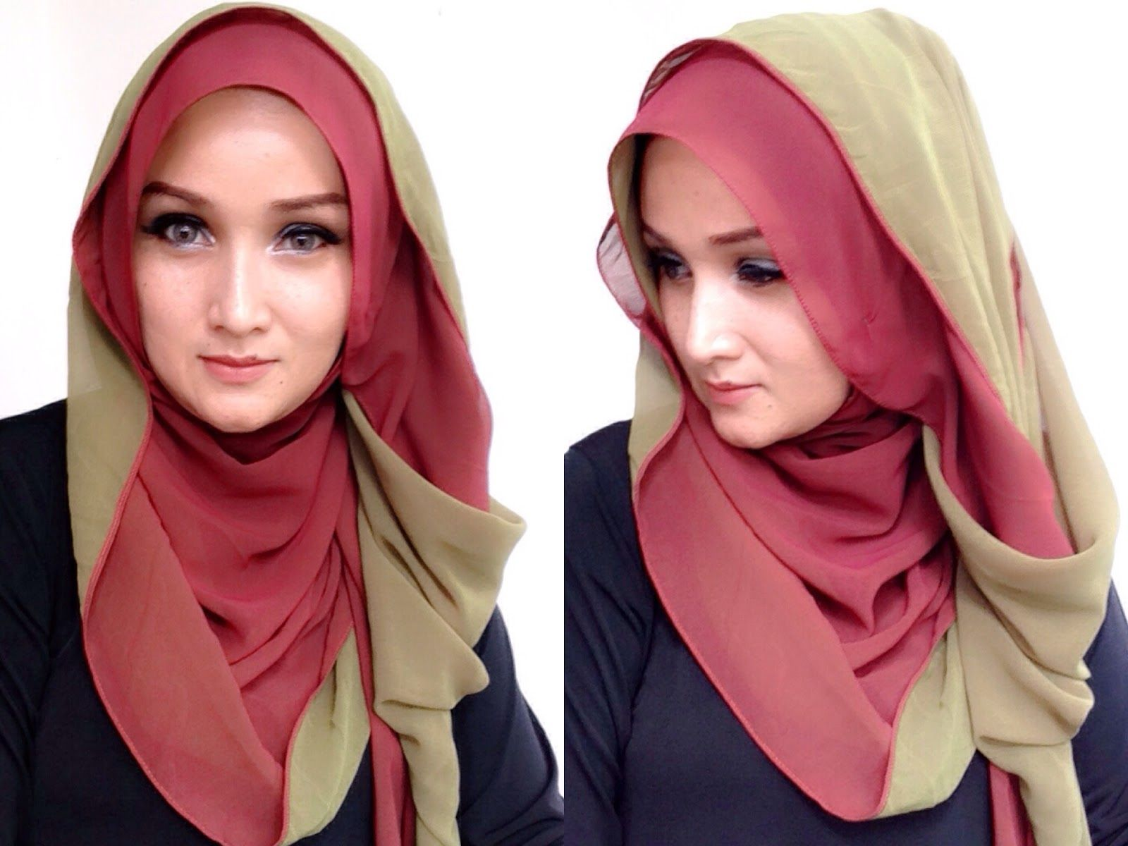 Little Things From My Closet Hijab Tutorial Two Tone Cerutti