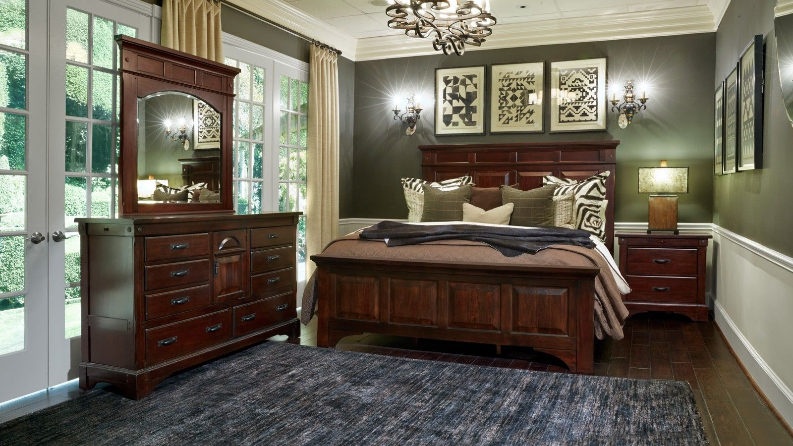 hidalgo 3-piece king bedroom set | houston tx, bedrooms and solid wood