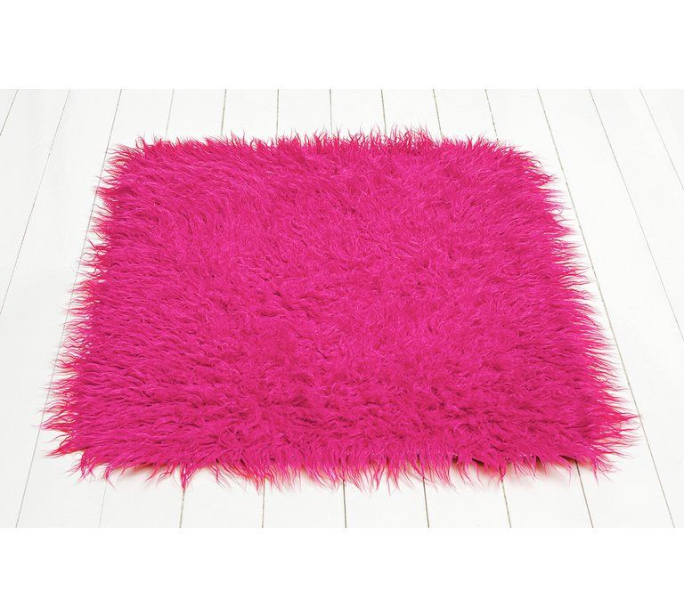 Home Faux Flokati Rug 100x75cm Hot Pink Rugs In 2019