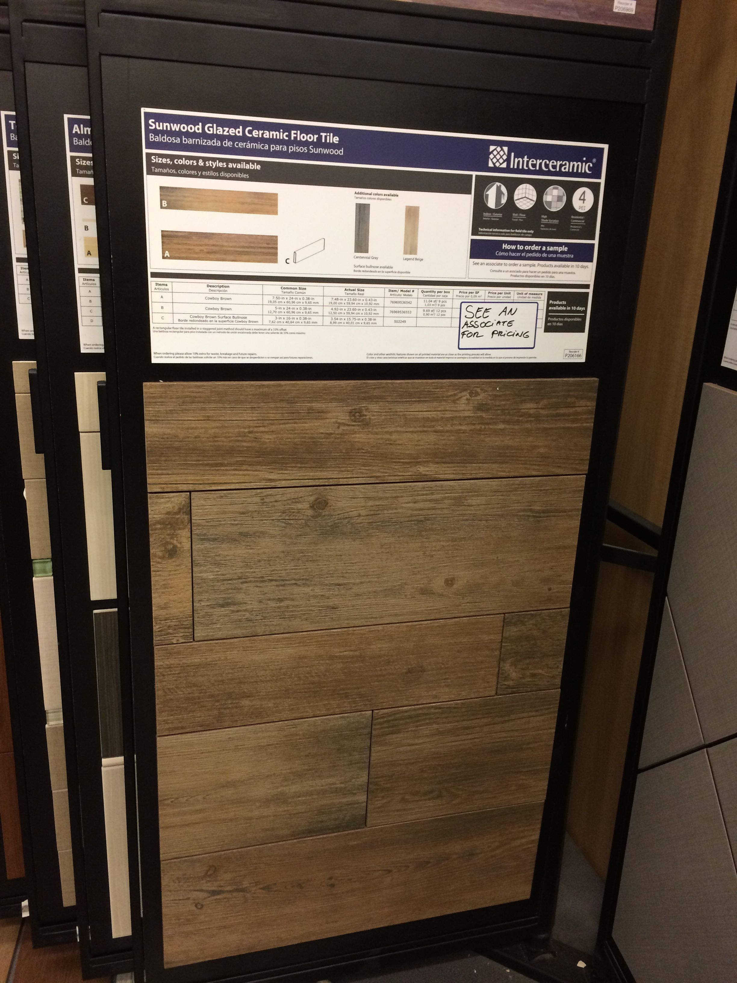 wood grain ceramic tile at lowes