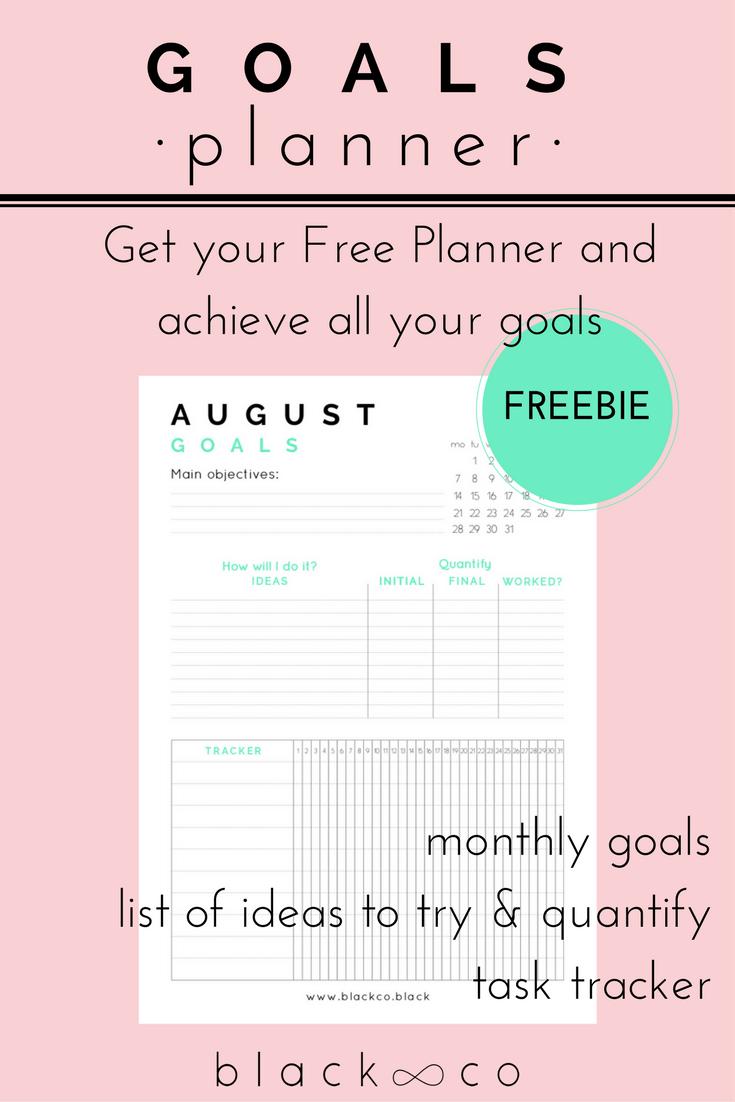 Monthly Goals Planner December Ezhednevniki Pinterest Goals