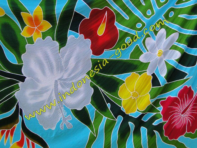 pareos fleurs hibiscus fleur de tiare | pareos batik sarongs
