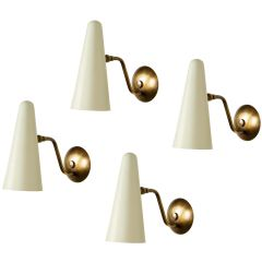 Set of Four Disderot Sconces