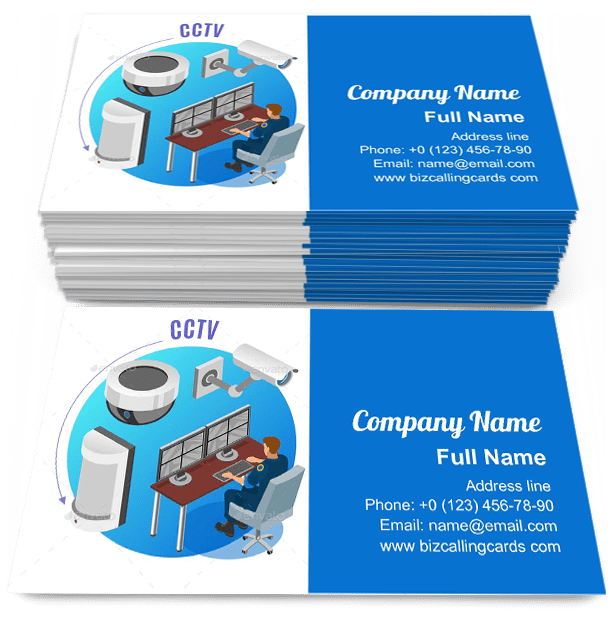 Editable Security System Cctv Cameras Business Card Template Cctv Camera Visiting Card Cctvca Visiting Cards Visiting Card Design Business Card Template