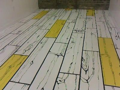 Painted Floor Ideas hand painted floor. use in studio | inspiration for our home