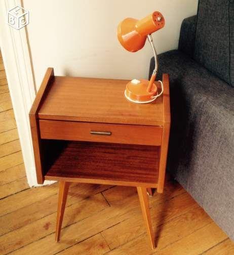 superbe chevet vintage ann es 50 60 ameublement paris ann es 50 pinterest. Black Bedroom Furniture Sets. Home Design Ideas