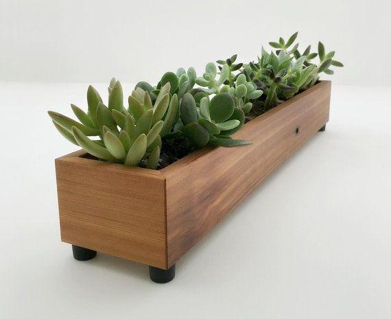 Jardinera madera moderna caja por andrewsreclaimed en Etsy Jardin - jardineras modernas