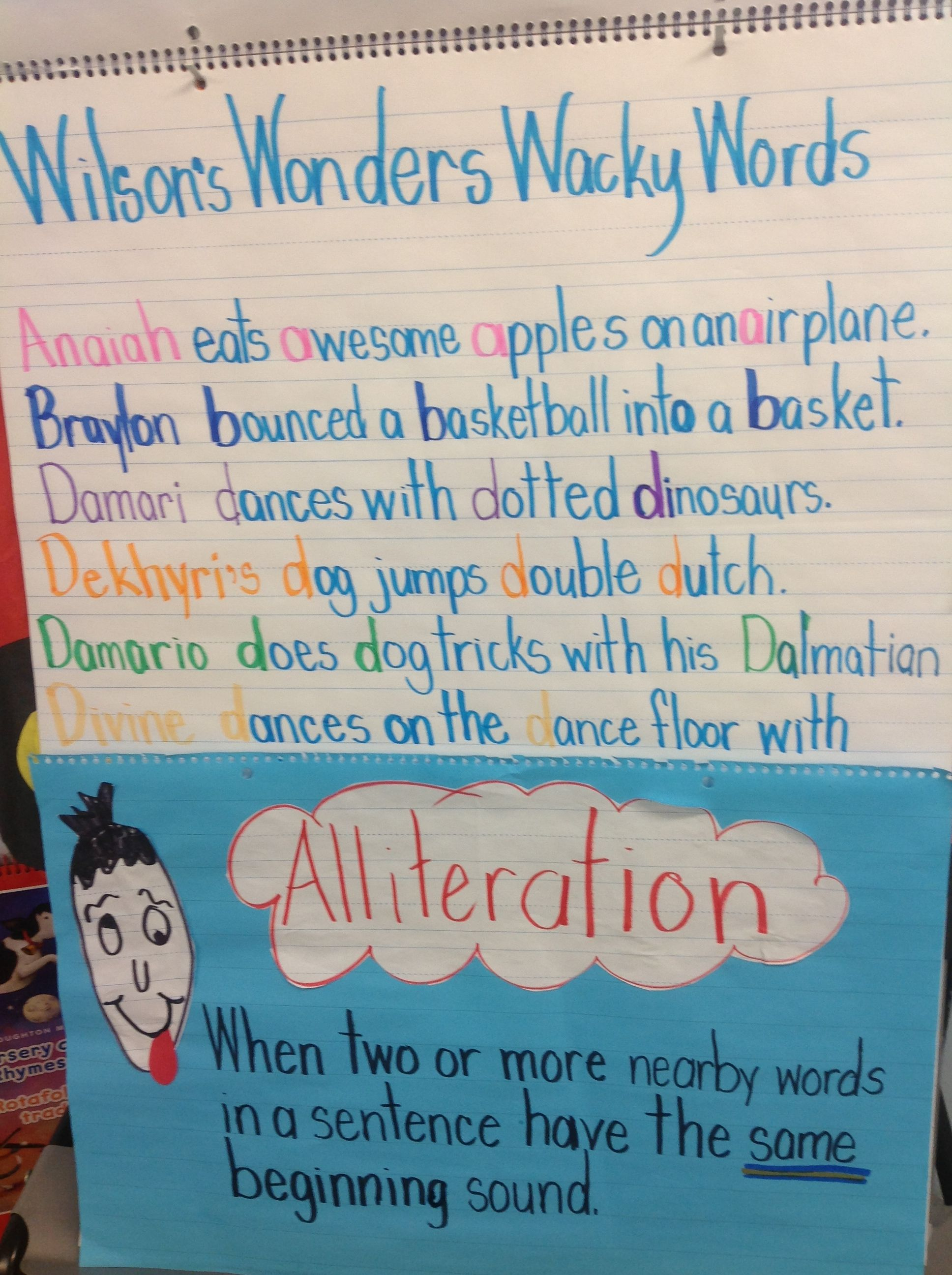 how to write a alliteration sentence
