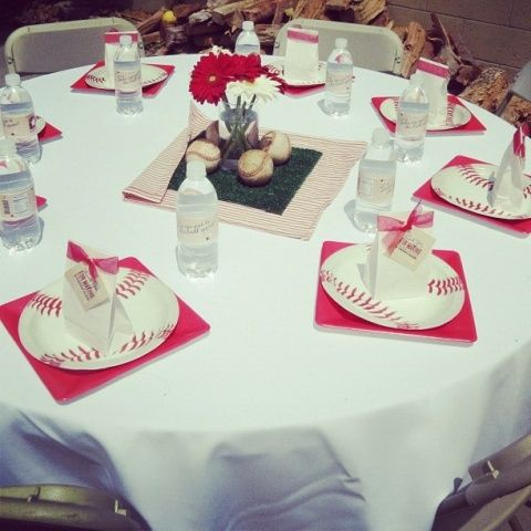 Baseball Baby Shower Decorations   Ideas Para Baby Shower De Béisbol