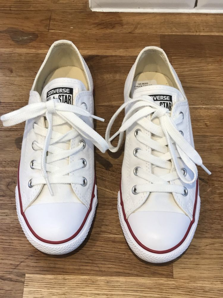 CONVERSE ALL STARS Dainty 5 Hole Lo Trainers Shoes UK 4 37