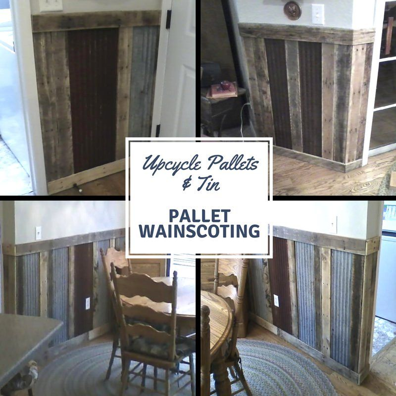 Pallets Plus Tin Makes Stunning Wainscoting! Wood pallet