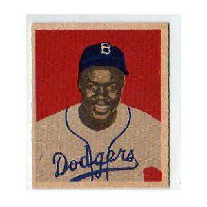 1949 Bowman 50 Jackie Robinson Rookie Baseball Card The Art Of