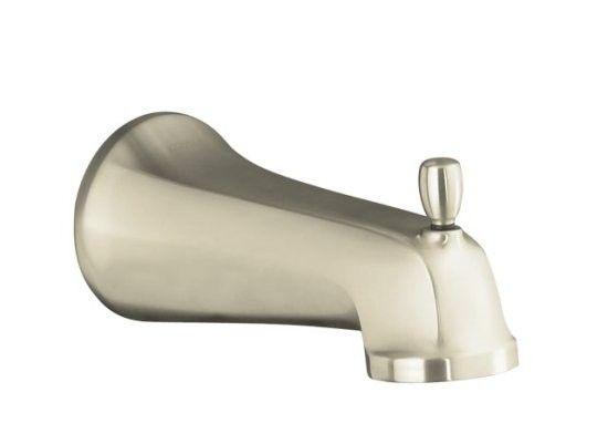 KOHLER K-10589-BN Bancroft Wall-Mount Diverter Bath Spout with Slip-Fit Connection in Brushed Nickel