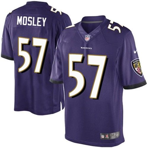 57131f349 Nike Limited C.J. Mosley Purple Youth Jersey - Baltimore Ravens  57 NFL Home