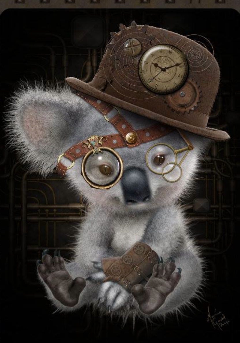 Steampunk Koala Steampunk Animals Steampunk Cat Steampunk