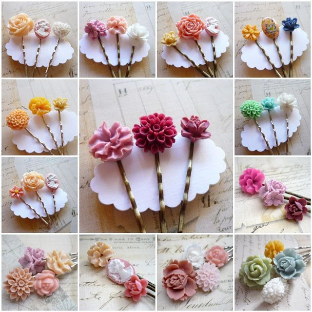 The Crafty DIY Bride: Stocking Stuffers - Hair Pins