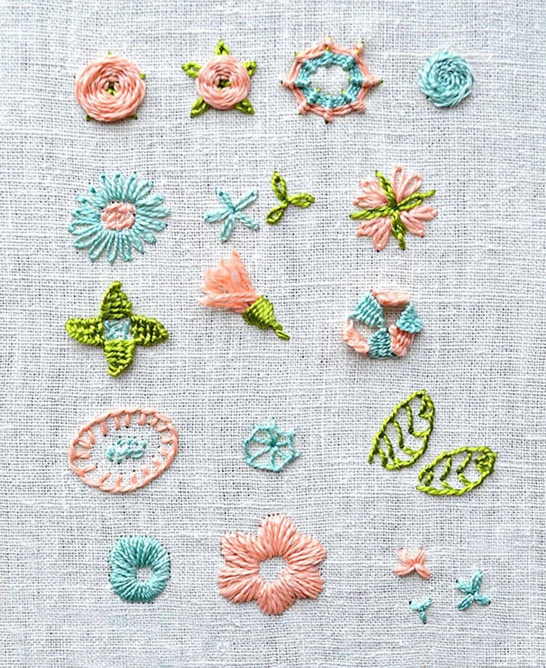 flower embroidery | Bordado Español | Pinterest | Bordado, Bordado a ...