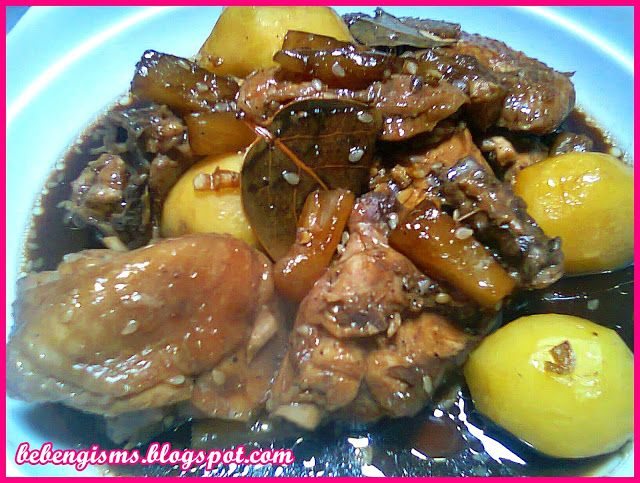 Royal Domesticity: Hawaiian Chicken Adobo with Sesame Seeds