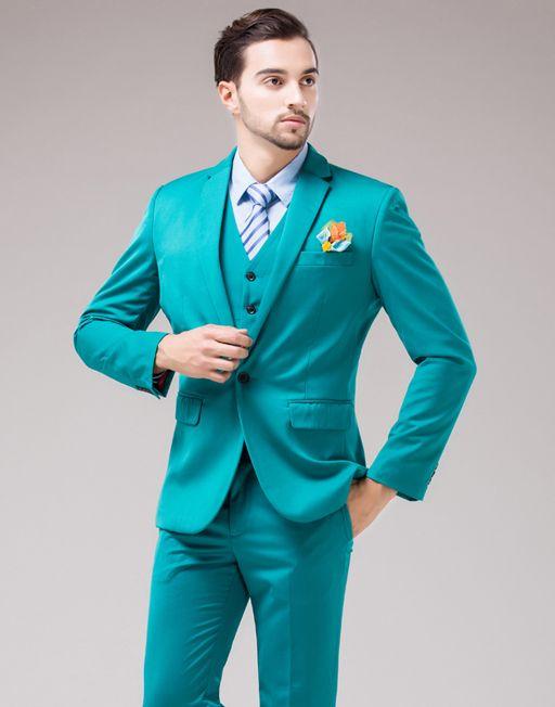 70bb72a5690b5e Men's Green Color Wedding Blazer Vest Pant | Groom wear in 2019 ...