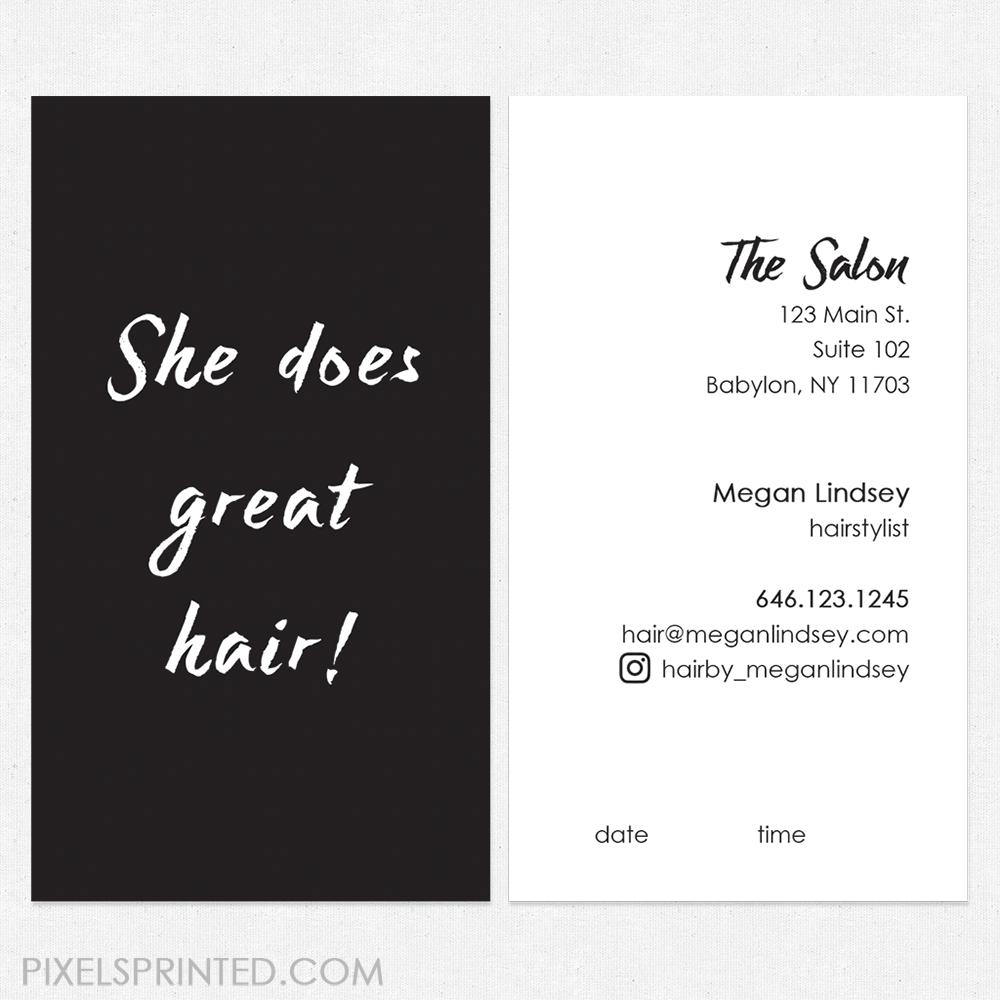 hair salon cards, unique hairstylist business cards, salon ...