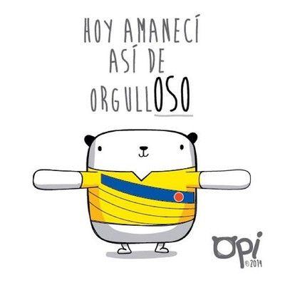 Así O Más Orgulloso Opi Cute Kawaii Character Illustration Ilustración Dibujo Colombia Brazil2014 Frases De Colombianos Mostropi Frases Alentadoras