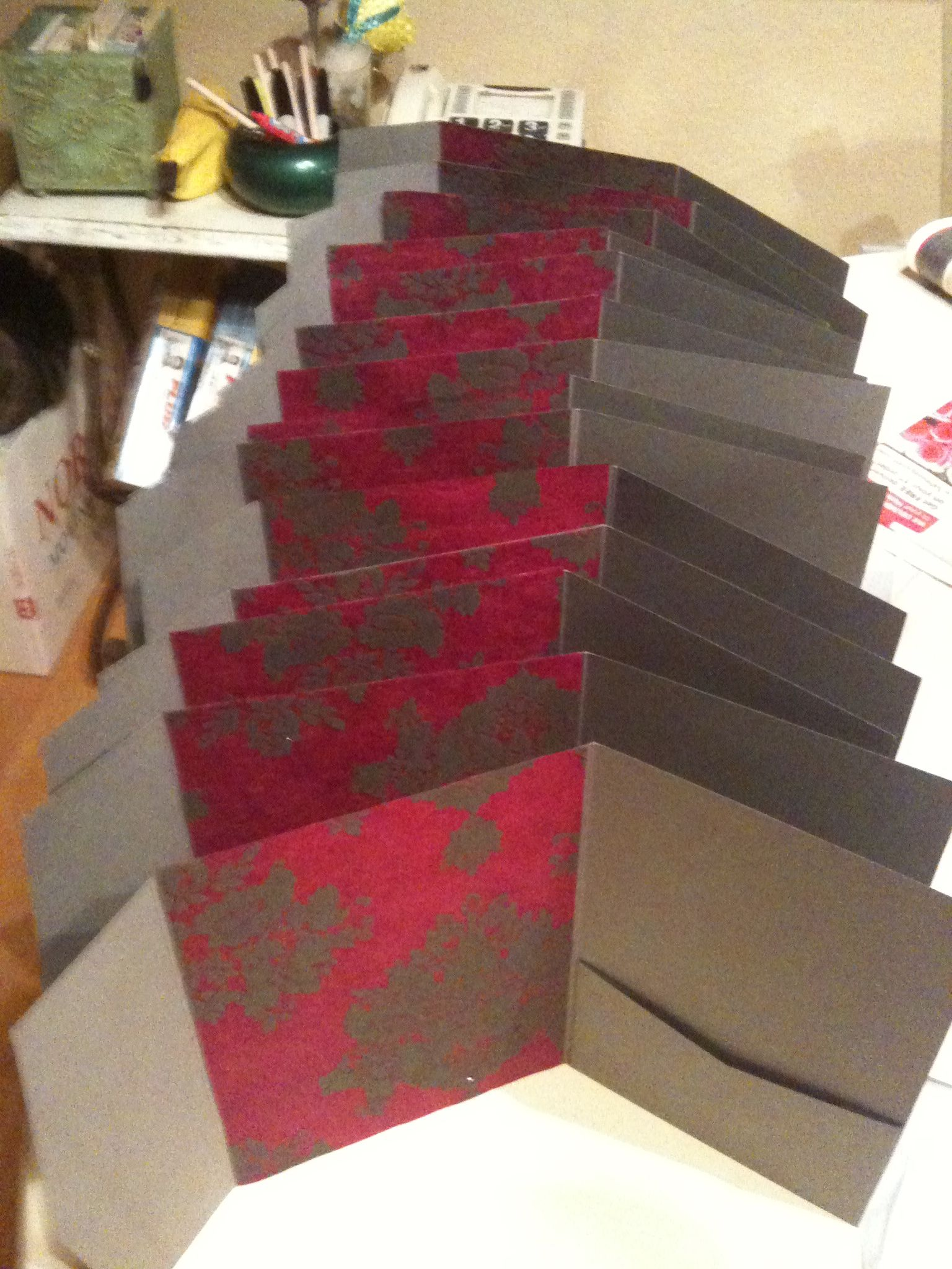 We made our own wedding invitations using card stock from http ...