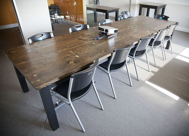 Wooden Farmhouse Style Conference Tables Emmor Works Rustic Conference Table Farmhouse Kitchen Tables Conference Table