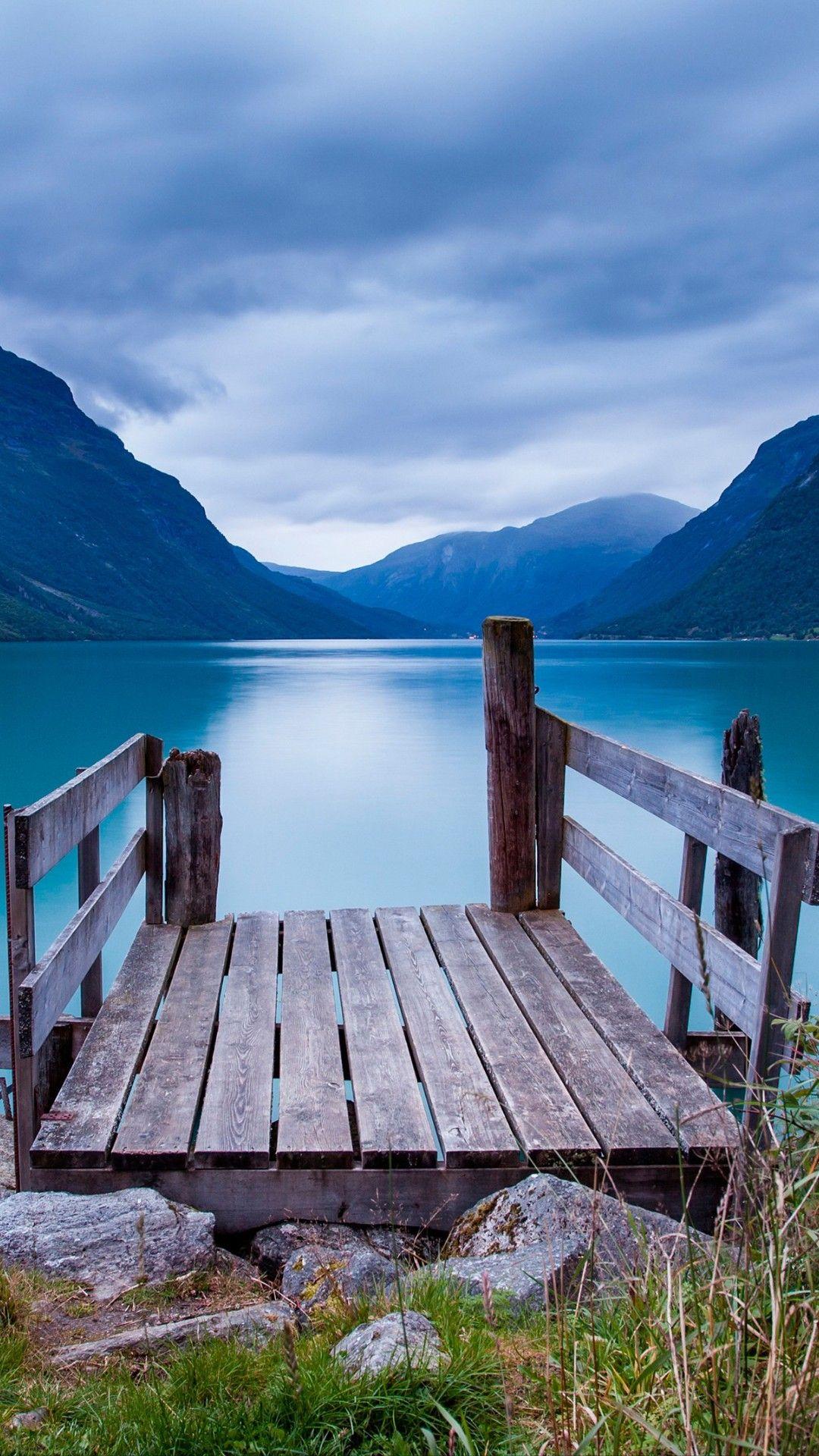 Lake,dock,nature Norway wallpaper, 4k phone wallpapers