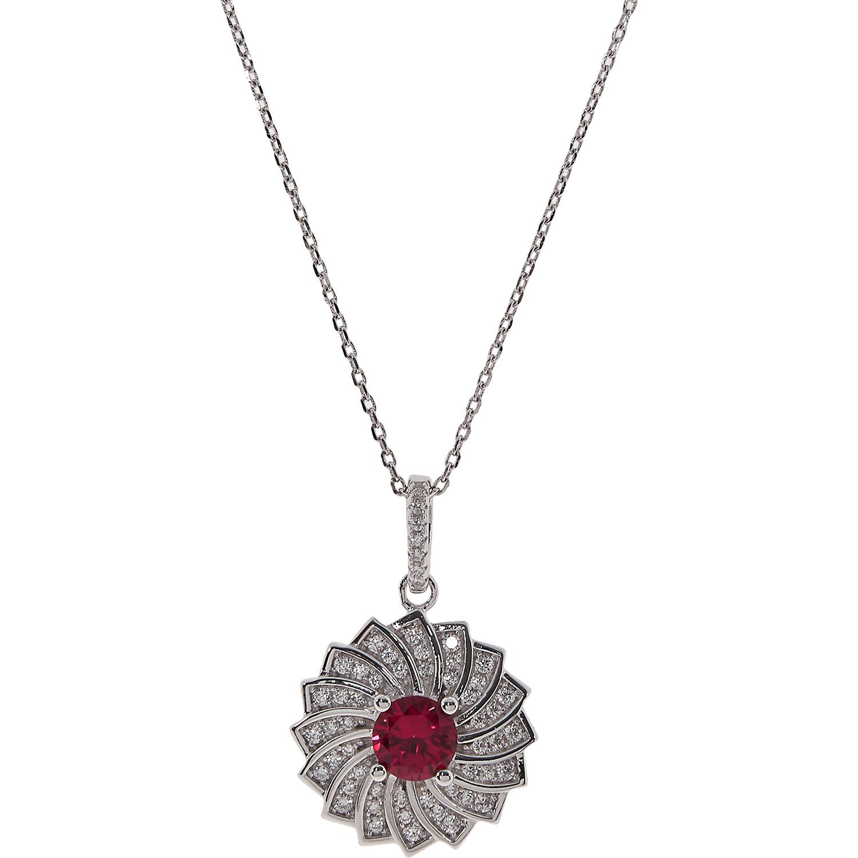 "Fei Liu"" Silver Flower Pendant Necklace TK Maxx"