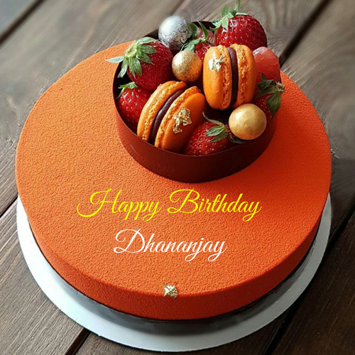 Fantastic Print Name On Orange Birthday Cake With Donuts Orange Birthday Funny Birthday Cards Online Overcheapnameinfo