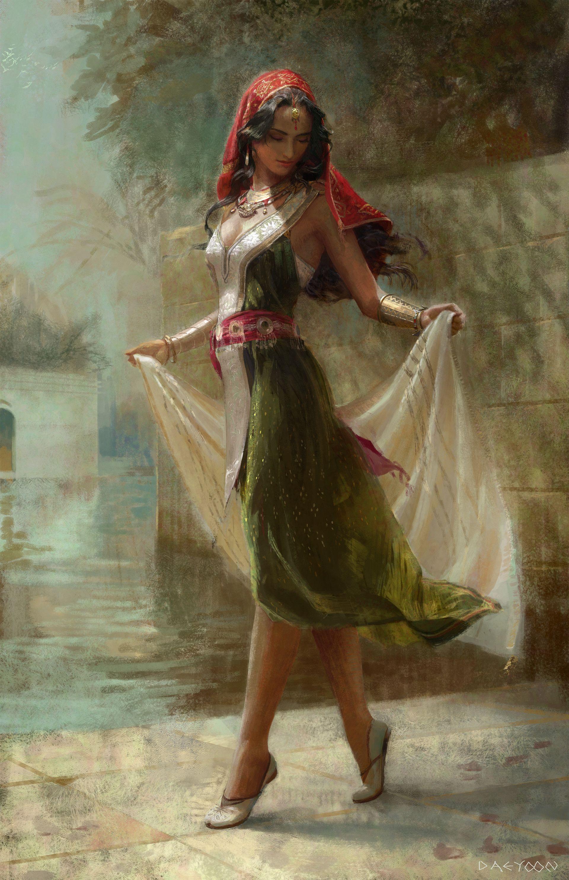 Artstation Fatima From The Alchemist Daeyoon Huh With Images Malarstwo Olejne Malarstwo Obrazy