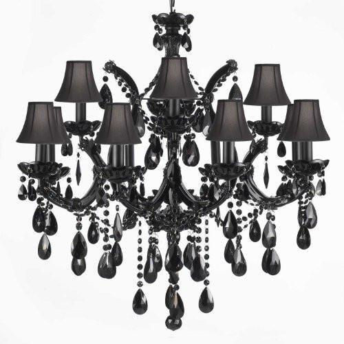 Jet Black Chandelier Crystal Lighting Chandeliers With Black